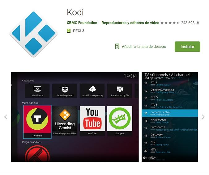Cómo utilizar Kodi en dispositivos Android