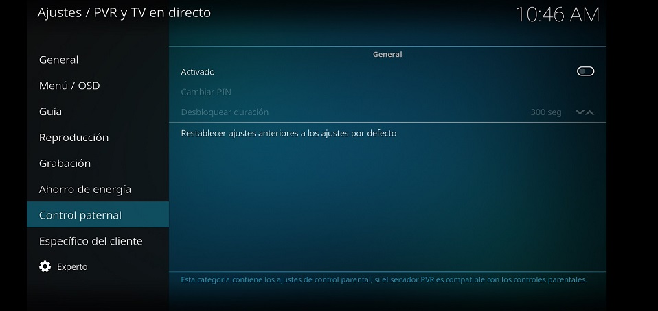 kodi control parental