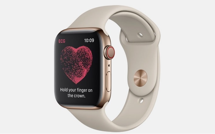 Un reloj Apple Watch con la aplicación ECG