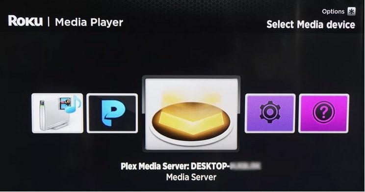 abrir roku media player plex