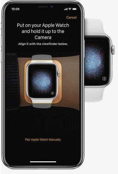 botón i del Apple Watch para emparejar iphone