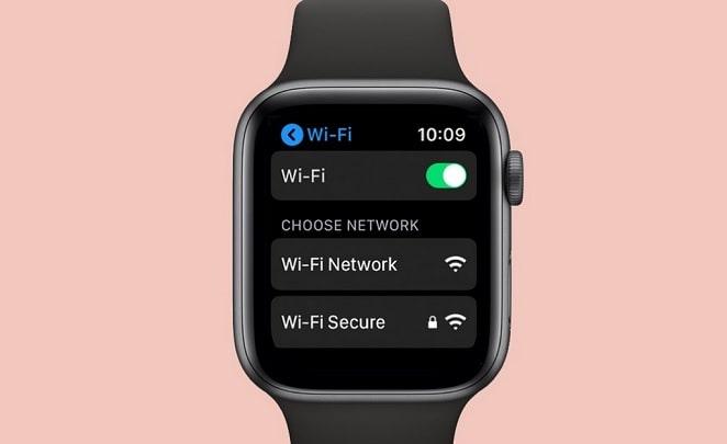 elegir red wifi en apple watch