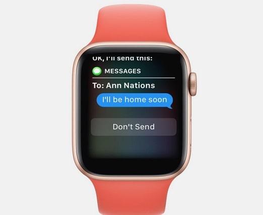 enviar mensajes con tu apple watch
