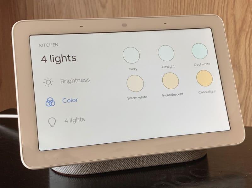 controlar luces de la cocina con Google Nest Hub