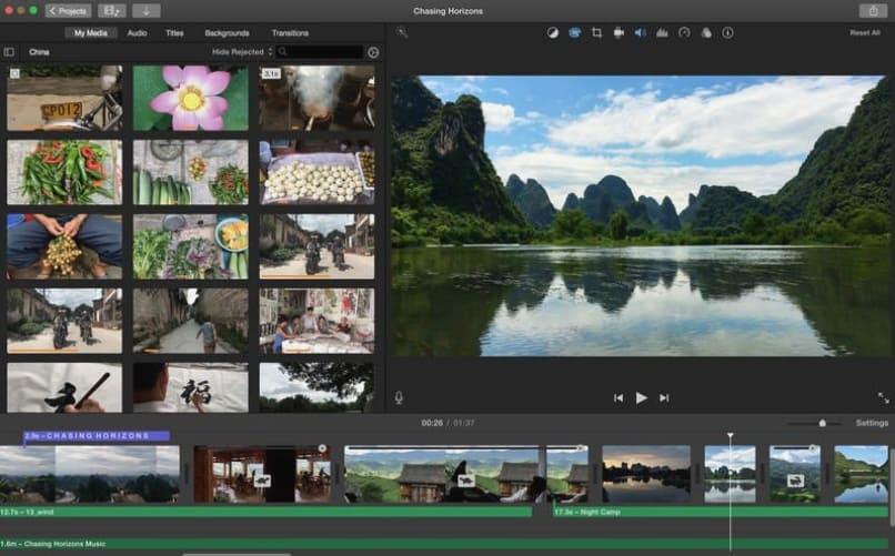 imovie para mac editor de vídeos