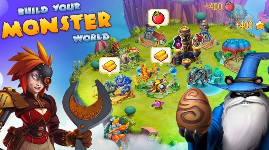 organiza tu isla en Monster Legends