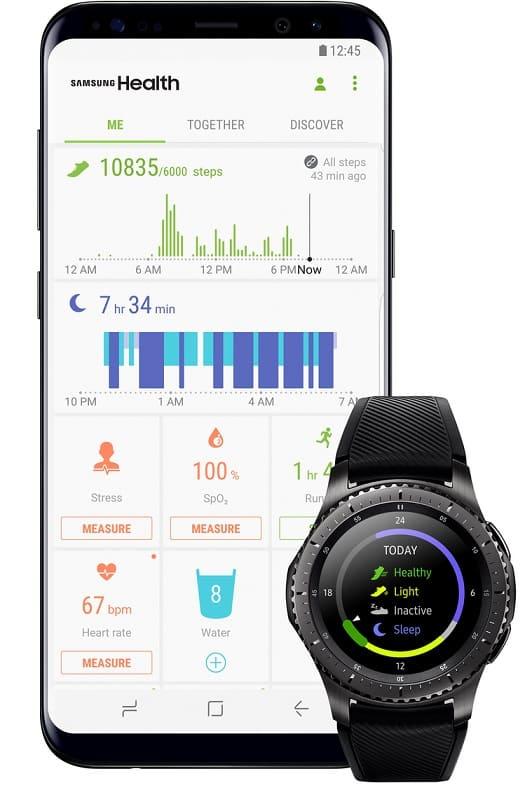 pantalla principal Samsung Health