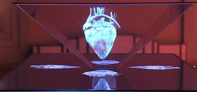 ¿Cómo funcionan los hologramas en un escenario?