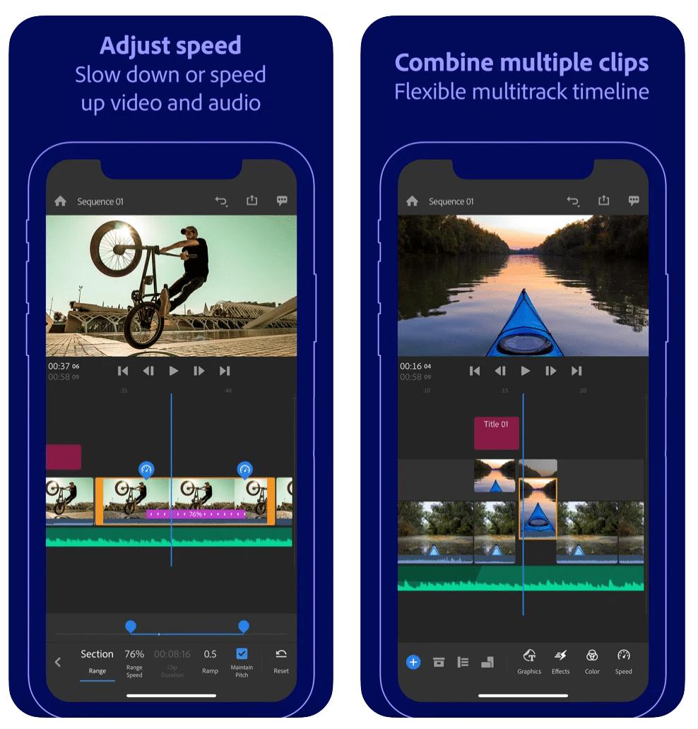 adobe premium rush ediciones de vídeo móvil gratis