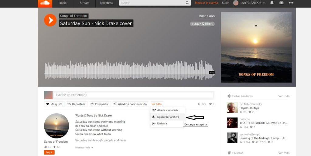 cómo descargar música desde Soundcloud