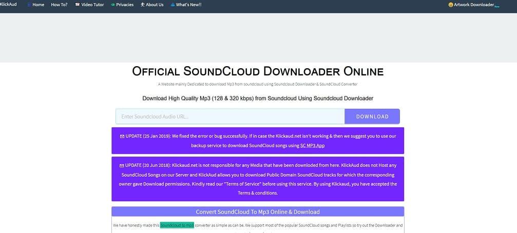 descargar desde una web musica de soundcloud