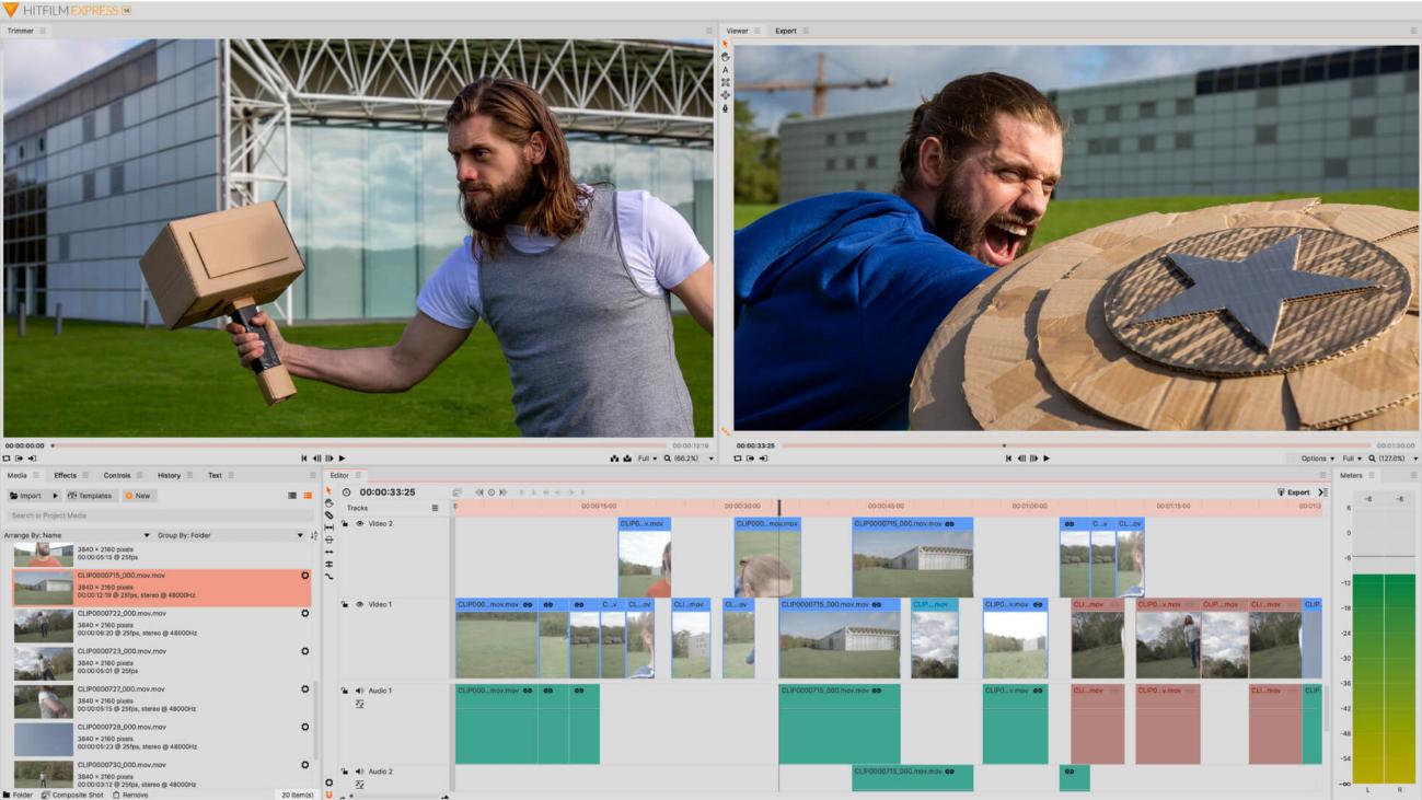 Editor de vídeo Hitfilm para Mac y Windows