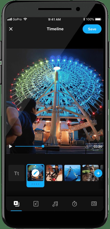 GoPro editor gratuito de vídeo móvil