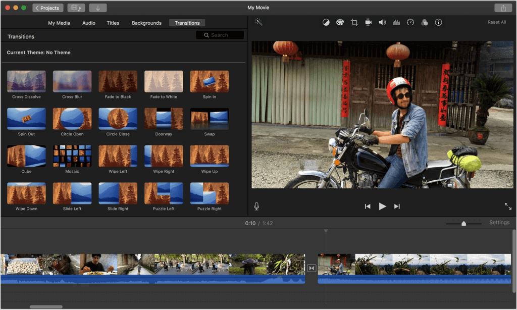 iMovie Video Editing Mac