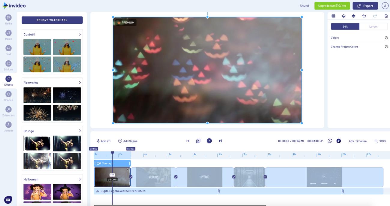 invideo editor de vídeo en línea