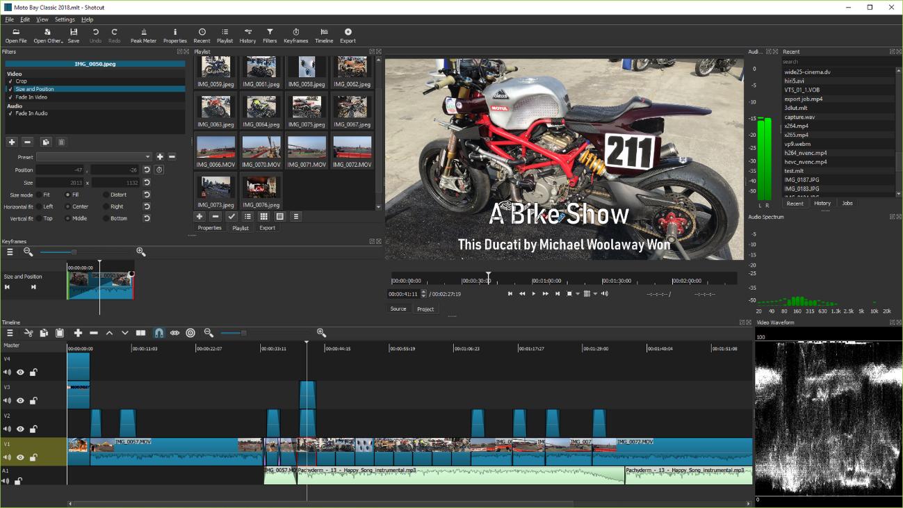 shotcut mejor edición de vídeo de escritorio