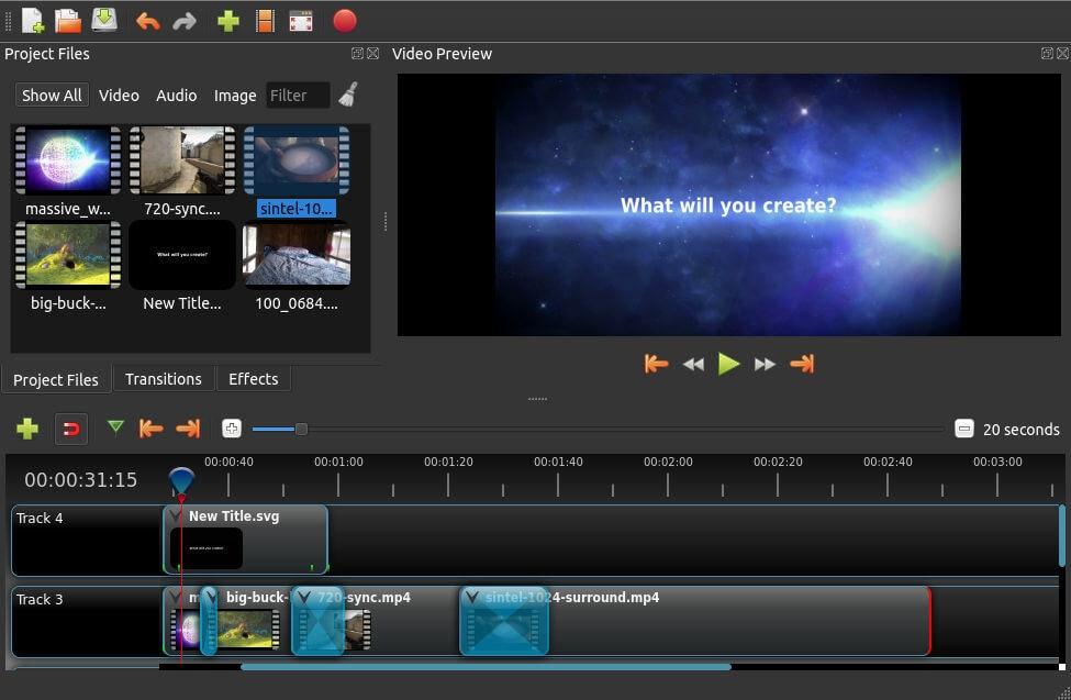 Software de edición de vídeo Openshot