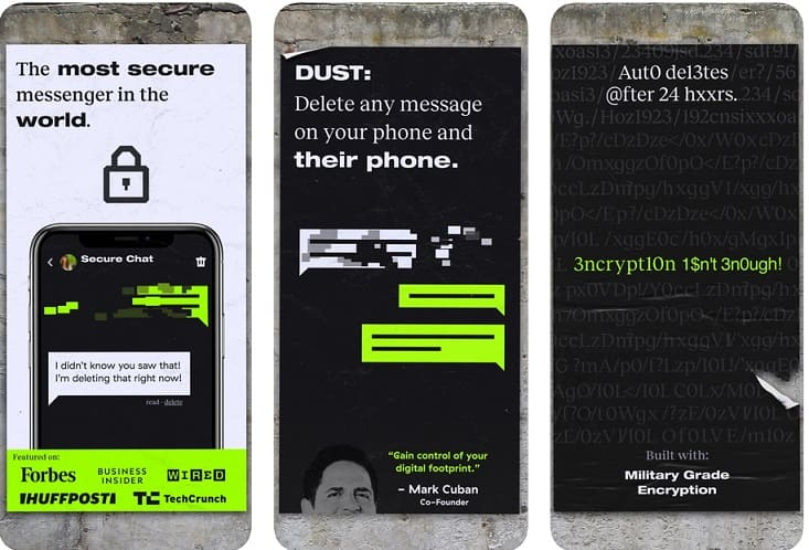 aplicacion mensajeria dust