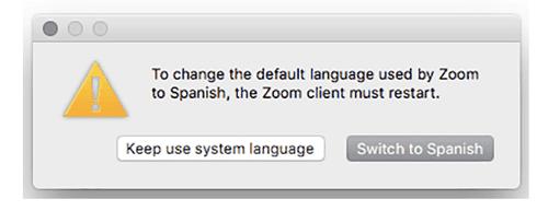 como cambiar el idioma a español en Zoom