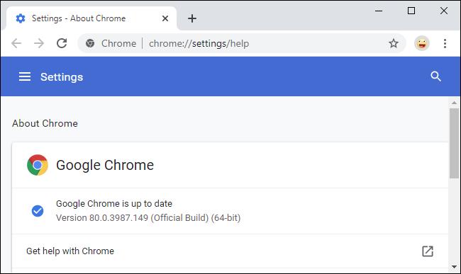 Menú de configuración de Google Chrome