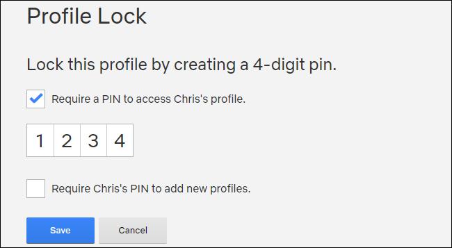 Crear un PIN de Netflix