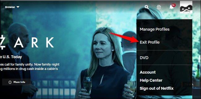 Cerrar sesión en un perfil de Netflix