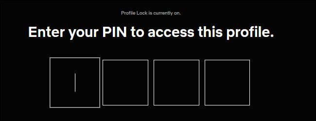 Introducción de un PIN para el bloqueo de perfil en Netflix