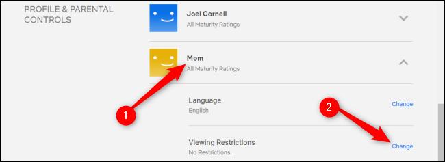Controles parentales de Netflix
