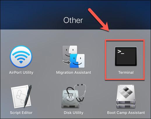 Presione el icono de Launchpad en el Dock, luego haga clic en el