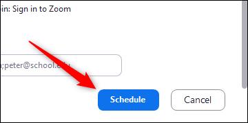 Horario de reunión botón