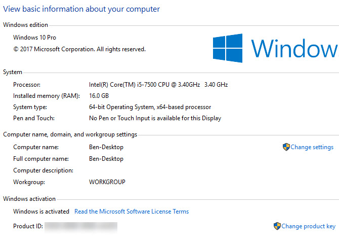 Equipo de Windows condición de dominio