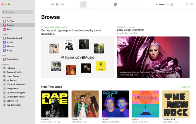 Music App Mac-Browse View