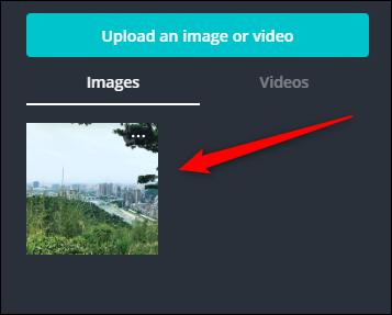 Haga clic en su foto cargada en el