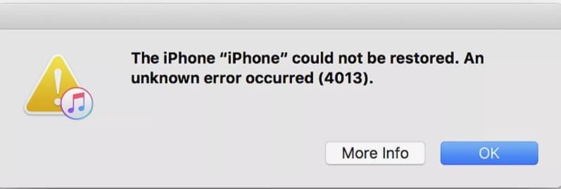 error 4013 iphone y ipad