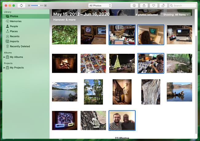 Seleccione varias fotos para imprimir en Fotos en Mac