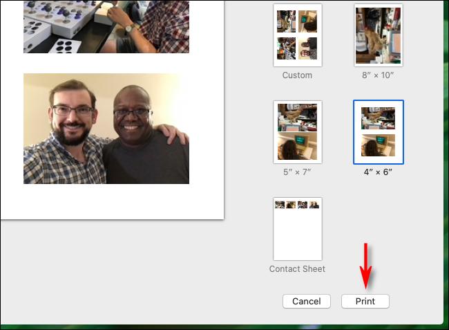 Haga clic en la aplicación Imprimir en fotos en Mac