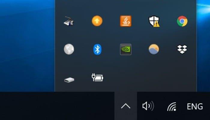 Bandeja del sistema Bluetooth