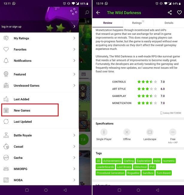 Buscar nuevos juegos en Android Minireview Nuevos juegos
