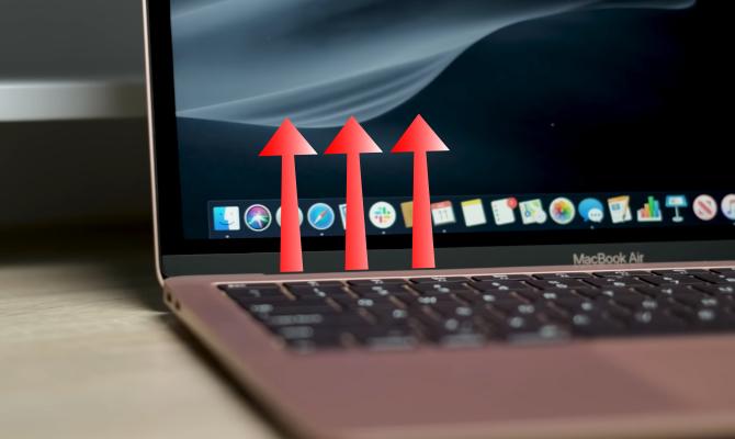 Heat arrows exiting MacBook Air 2019 Fan
