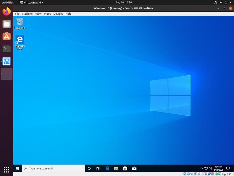 Windows On Vbox Finished