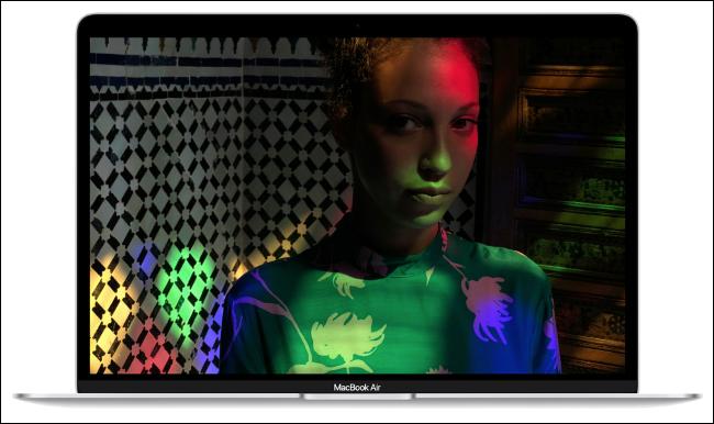 Apple MacBook Air 13-inch screen.