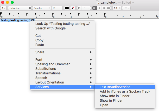 Automator can create services, that you can access directly from macOS' context menu.