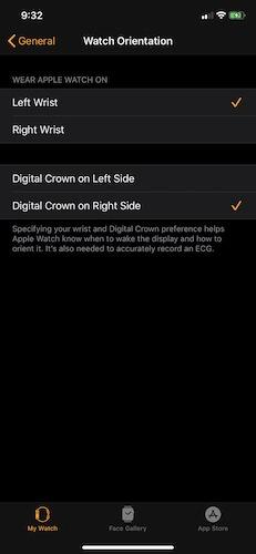 Consejos superiores Apple Watch mano izquierda