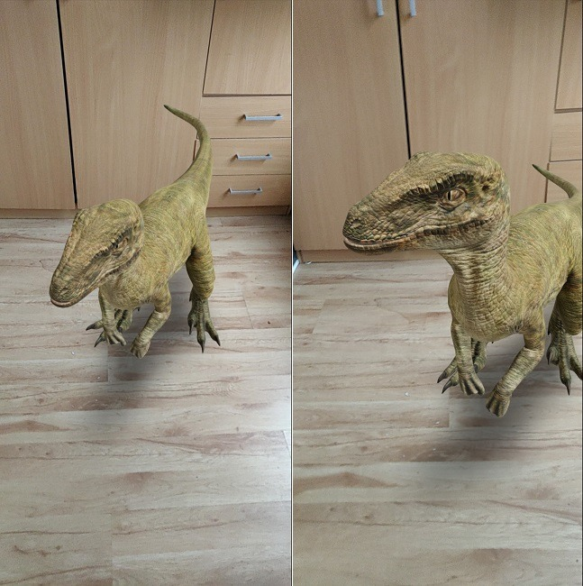 How To Google 3d Objects Dinosaur In Environment