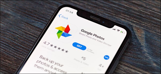 Google Fotos App Store listado en Apple iPhone