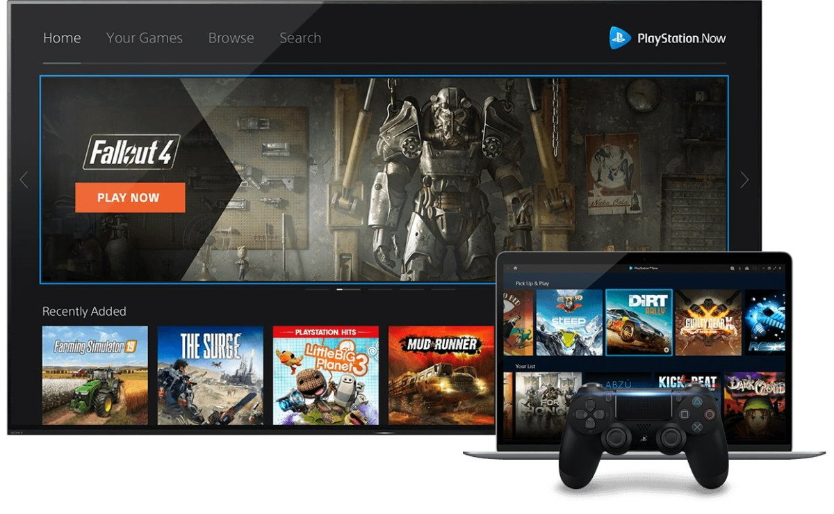 Interfaz de PlayStation Now