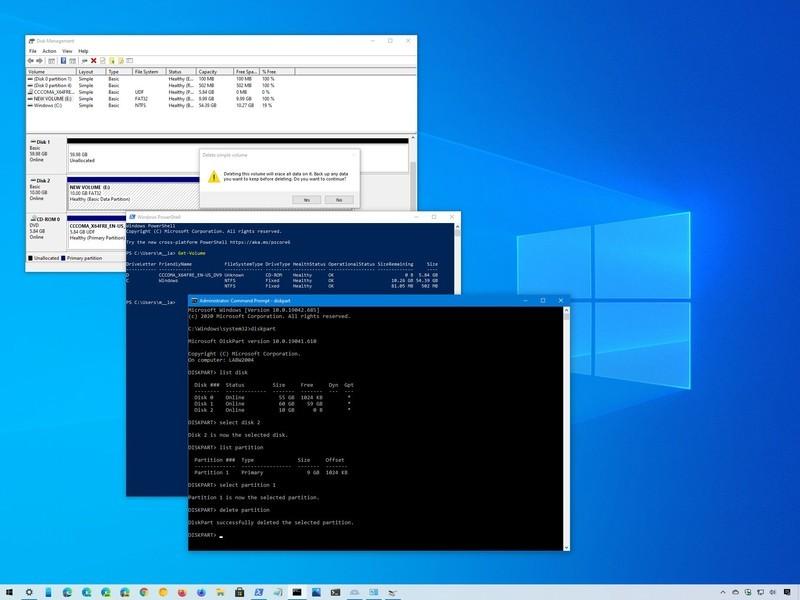 Windows 10 eliminar partición de unidad