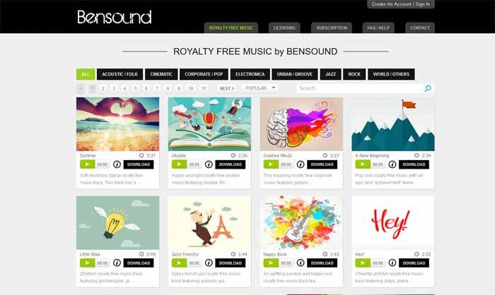 bensound-music-mp3-free derecho