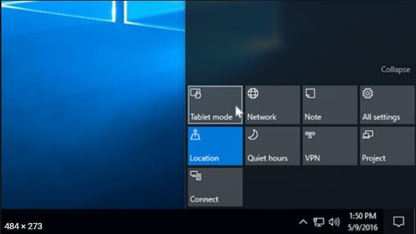 Cómo Activar y administrar el modo tableta en Windows 10