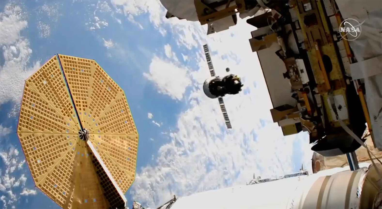 Soyuz capsule moved to a new docking port on the ISS